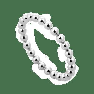 Princess Beaded Silver Ring