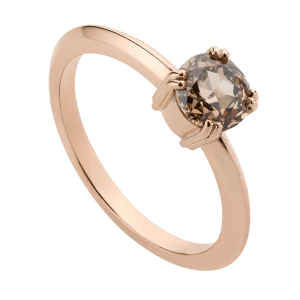 Rose Cut Champagne Diamond Ring