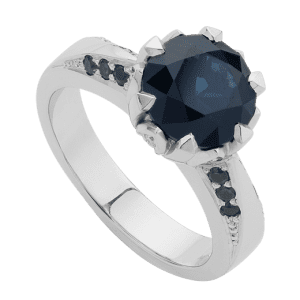 Antique Teal Sapphire Ring