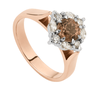 Peach Tourmaline Marquise Ring